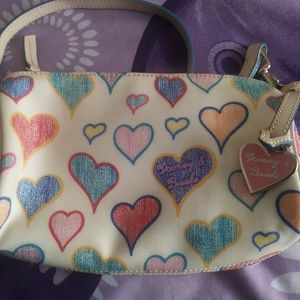 Dooney & Bourke Hearts Collection Ivory and Multi